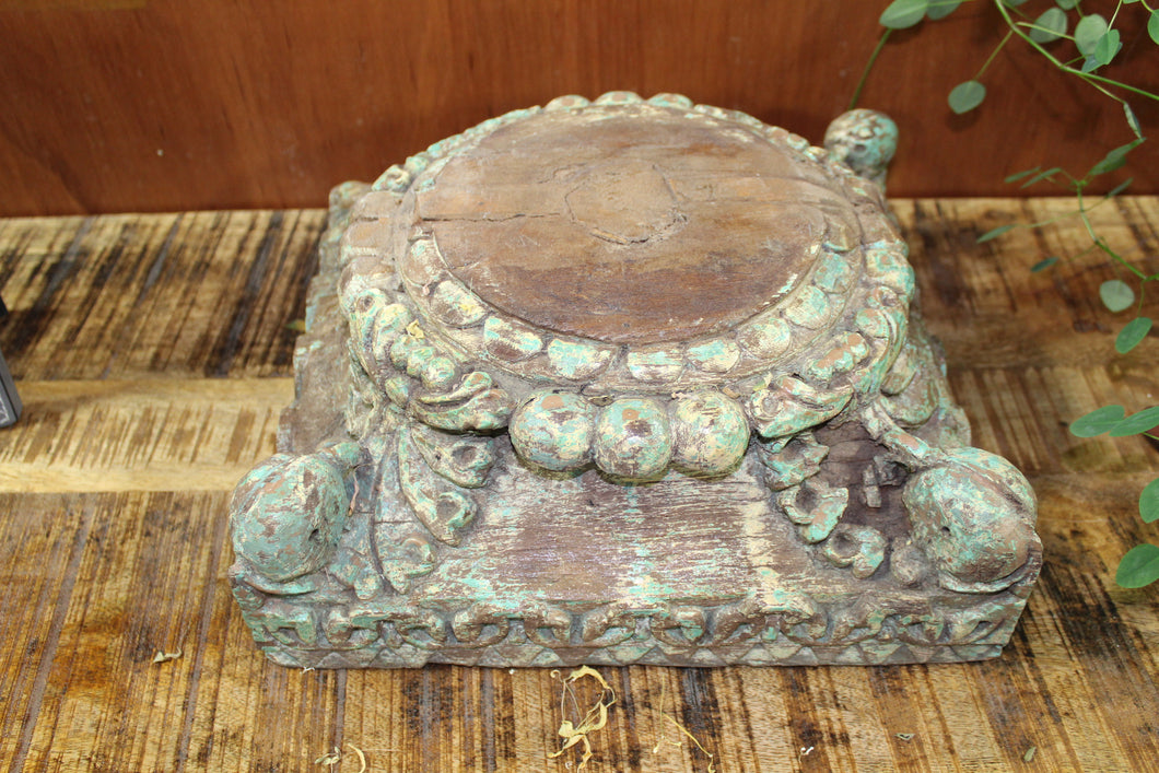 Wood-Carved Plant Stand - Casa Suarez