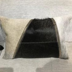 Indie Cow Hide Pillow - Vertical Stripe - Casa Suarez