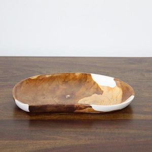 Plate Take Wood with Resin - casa-suarez-panama