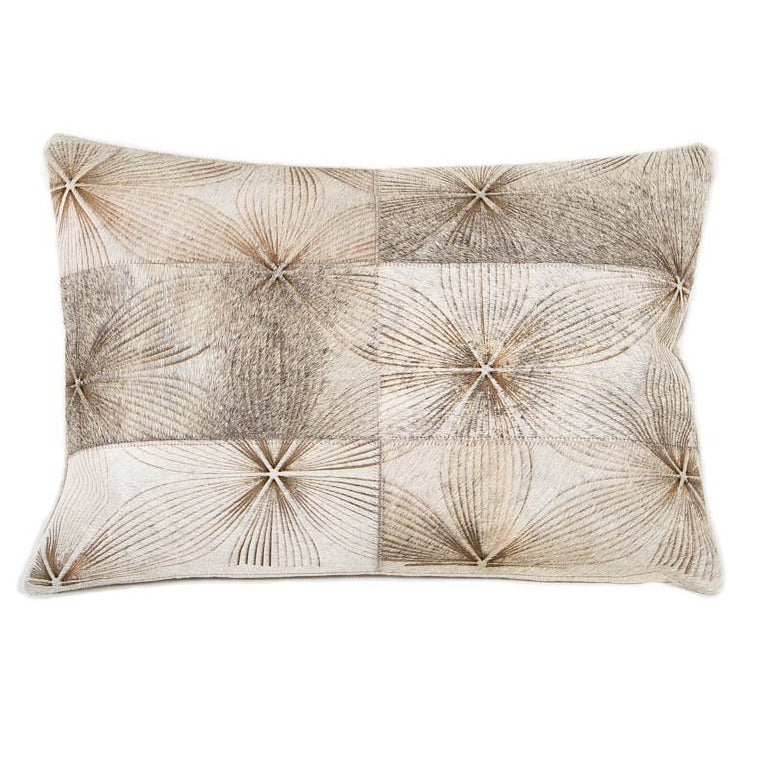 Boho Bloom Leather Pillow - Casa Suarez