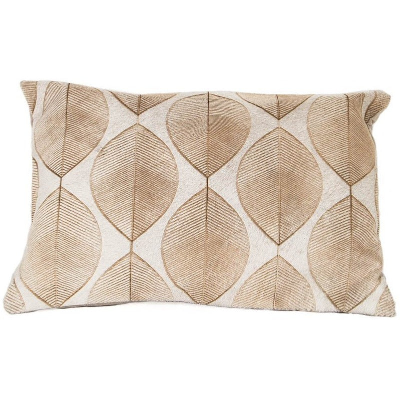 Boho Foliage Leather Pillow - Casa Suarez