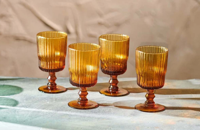 Fali Wine Glass - Amber