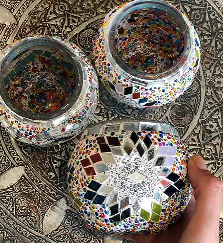 Mosaic Candle holder - Casa Suarez