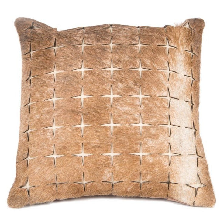 Fauna Leather Cushion - Casa Suarez