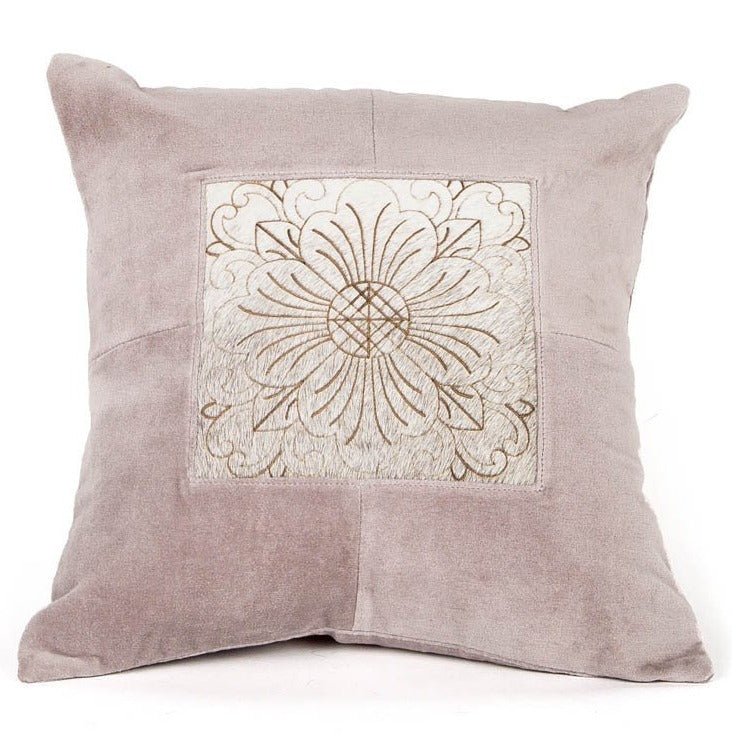 Zen Harmony Leather Cushion - Casa Suarez