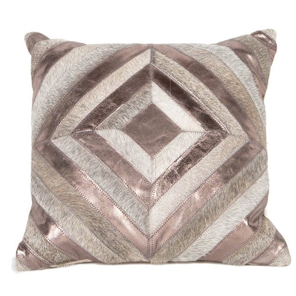 Metric Diamond Leather Cushion - Casa Suarez