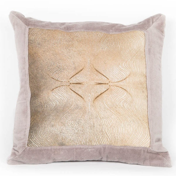 Zen Peaceful Leather Cushion - Casa Suarez