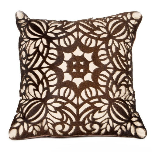 Boho Flora Leather Cushion - Casa Suarez