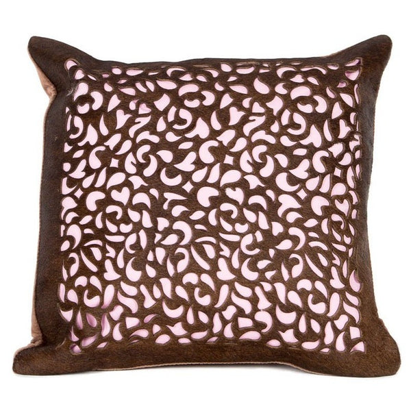 Boho Petal Leather Cushion - Casa Suarez