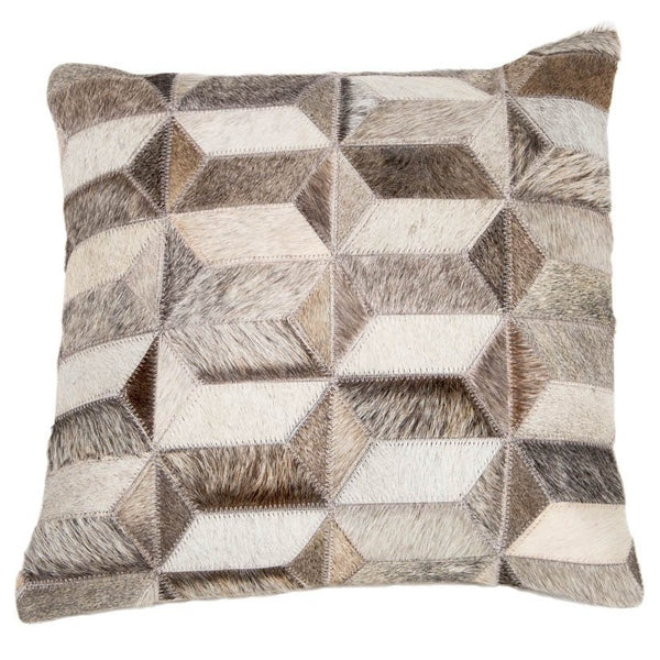 Metric Shapes Leather Cushion - Casa Suarez