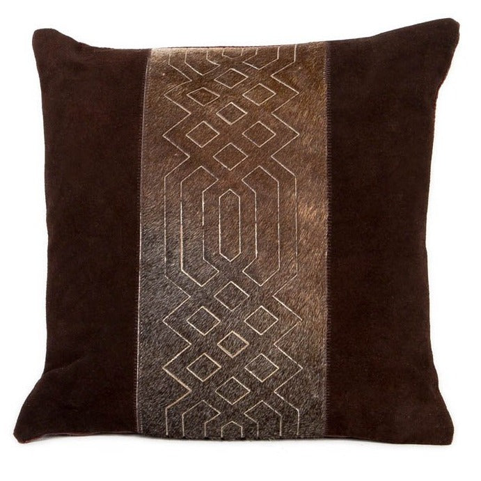 Zen Tranquility Leather Cushion - Casa Suarez