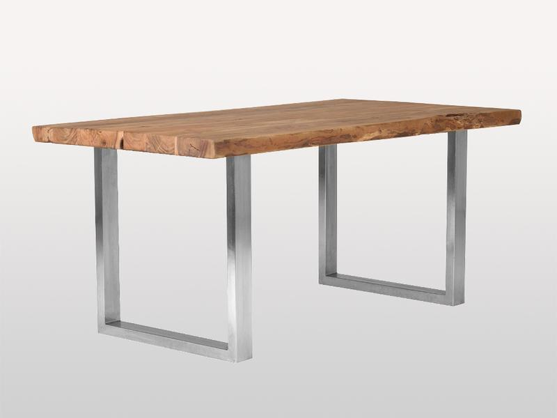 Dining Table Live Edge Base Metal U - Casa Suarez