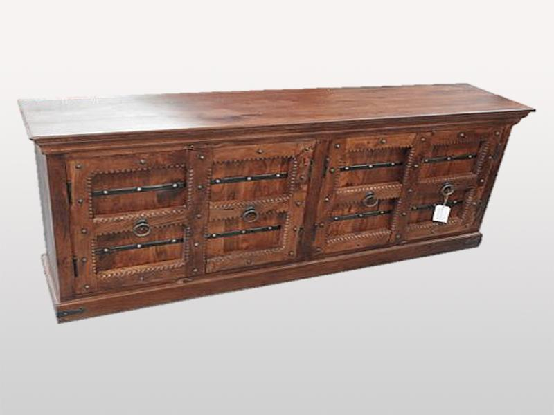 Antique Buffet 4 Doors Brown - Casa Suarez