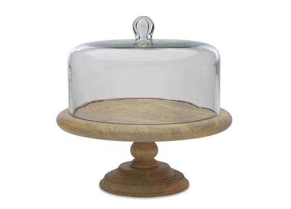 Recycled Glass Dome Cake Stand