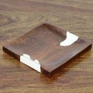 Square Plate Teak Wood Natural Small size - casa-suarez-panama