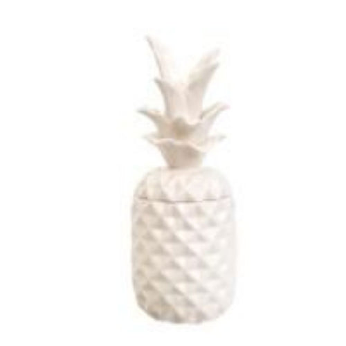 White Glass Pineapple - Casa Suarez