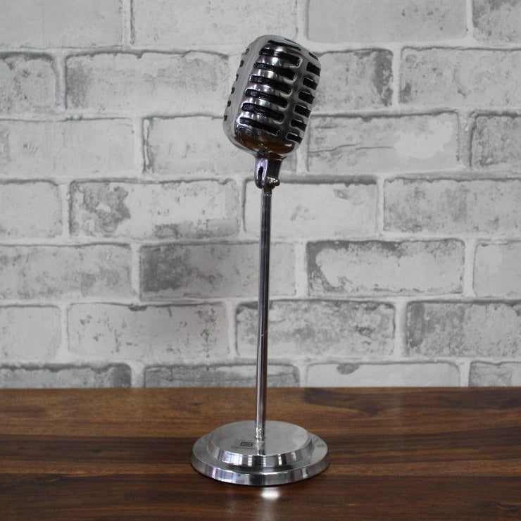 Decorative Mike (Microphone) Silver - Casa Suarez