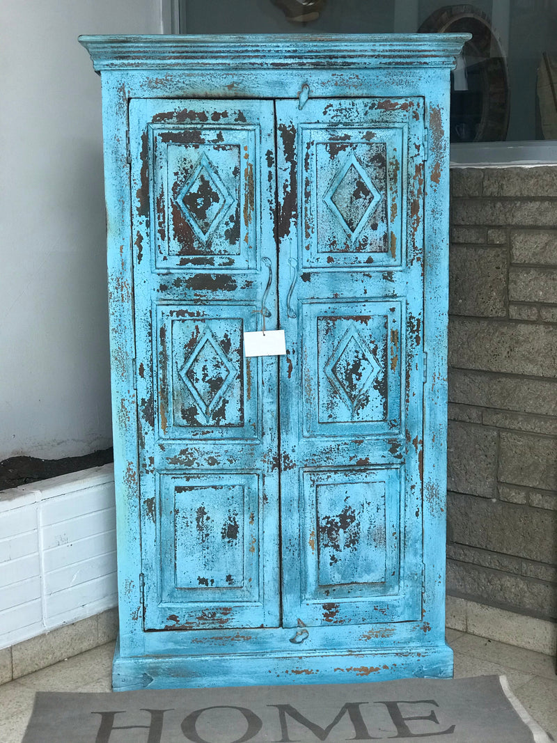 Antique cabinet blue - Casa Suarez