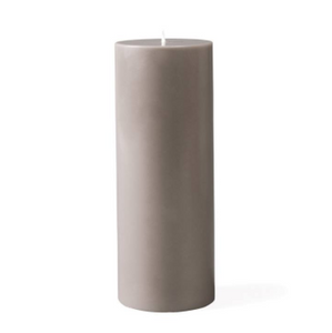 Prime Palm Wax Pillar Candle 3x8 - Warm Grey - Casa Suarez