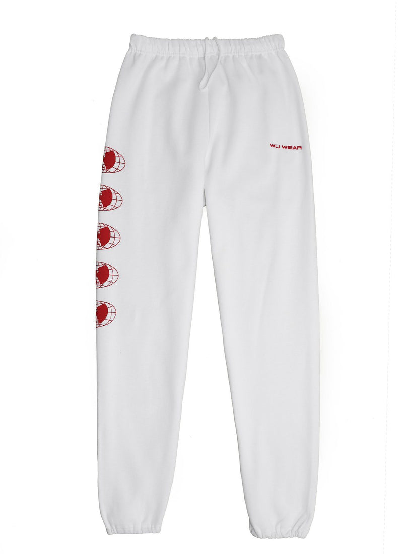 WU WEAR OG SWEATPANTS - WHITE - Wu Wear