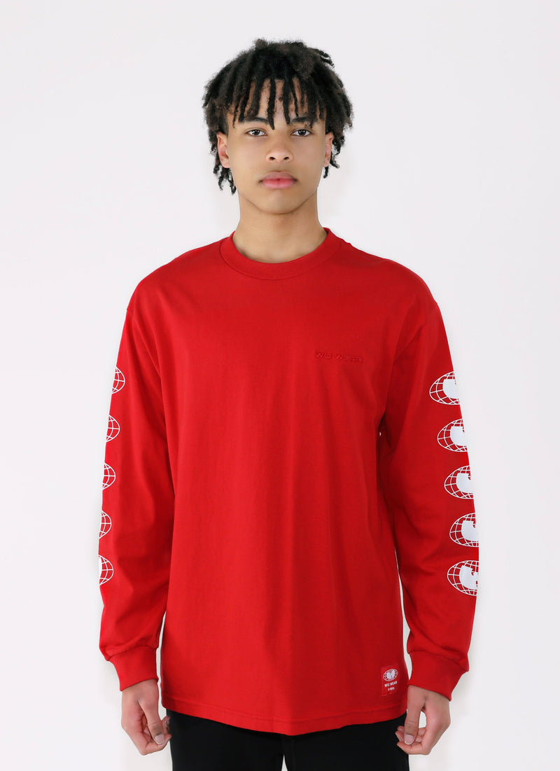 WU WEAR OG LONG SLEEVE - RED - Wu Wear
