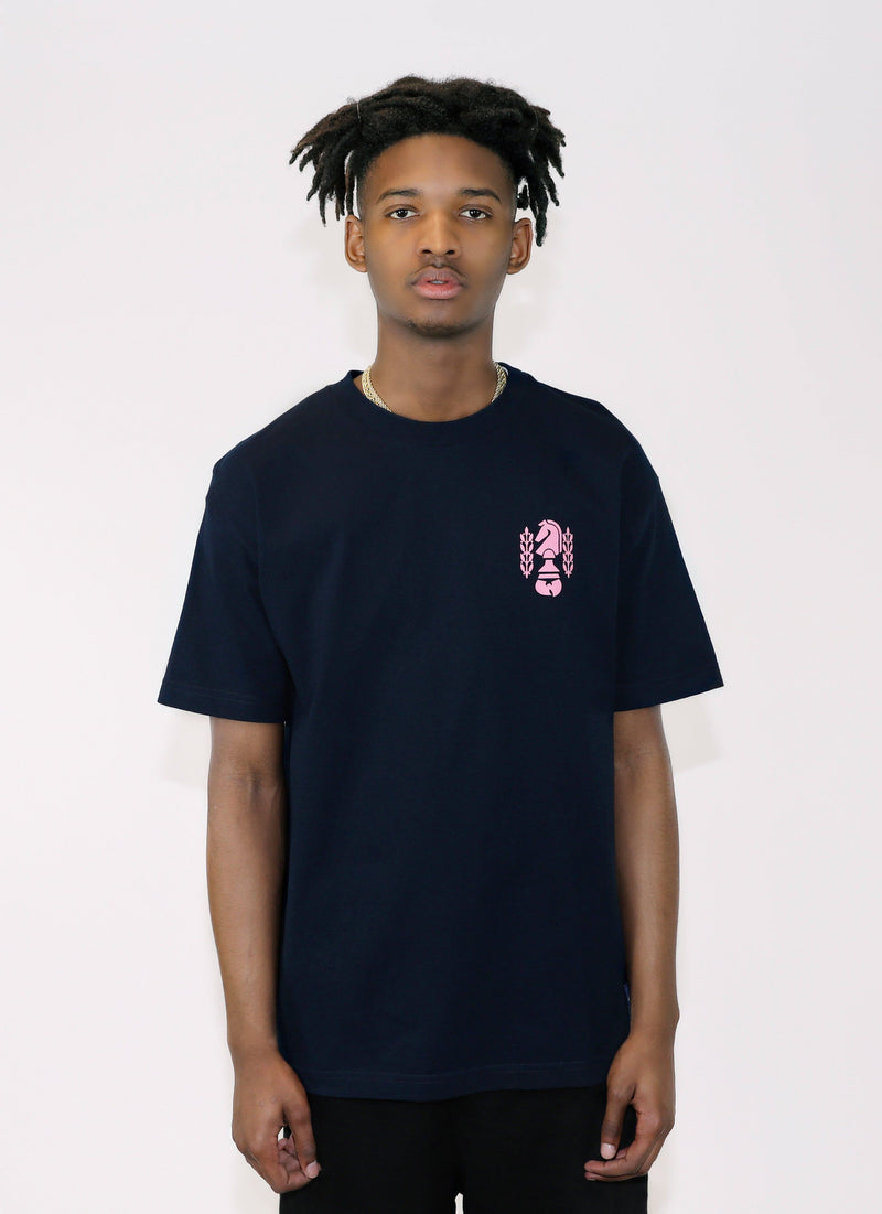 INVINCIBLE TEE - NAVY - Wu Wear