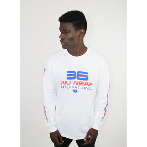 36 INTERNATIONAL LONG SLEEVE SHIRT - WHITE - Wu Wear
