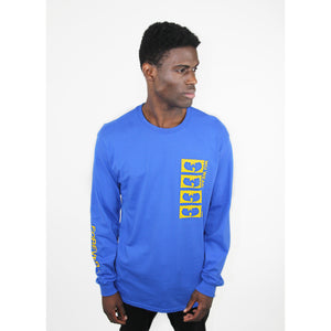 FOREVER LOGO LONG SLEEVE SHIRT - BLUE - Wu Wear