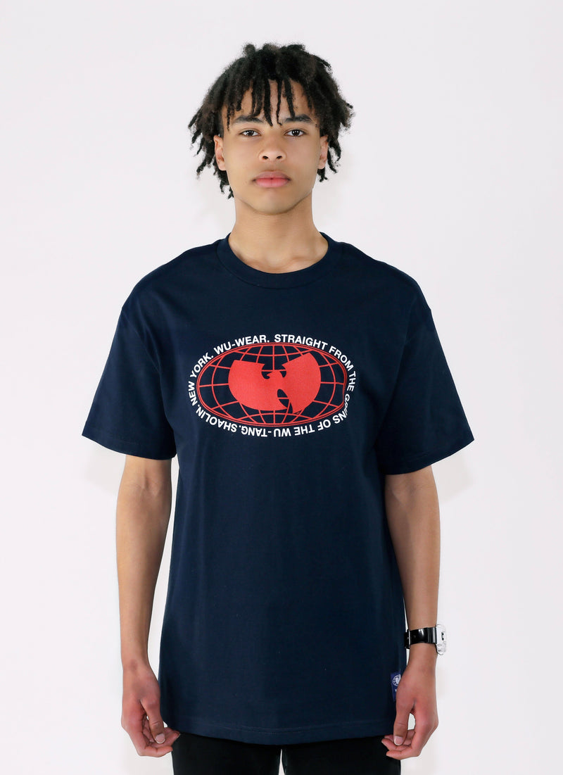 GRAINS TEE - NAVY - Wu Wear