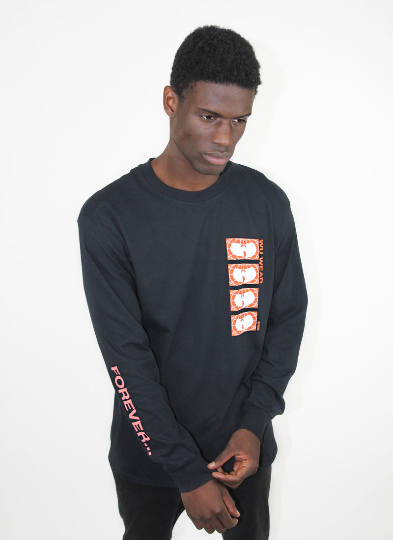 FOREVER LOGO LONG SLEEVE SHIRT - BLACK - Wu Wear