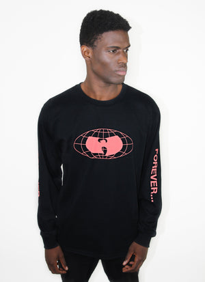 STRAIGHT FROM THE GRAINS LONG SLEEVE SHIRT - BLACK - Wu Wear