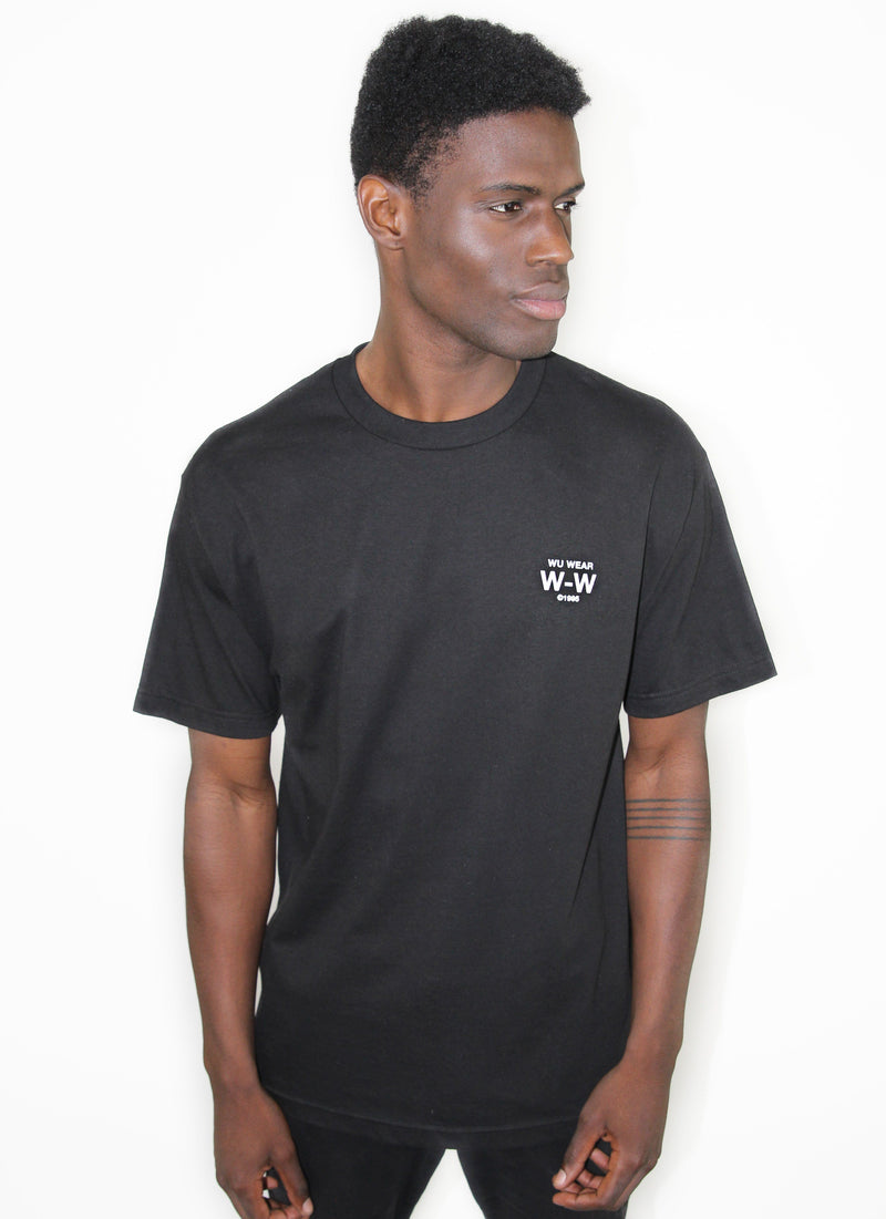 GRAINS GLOBE LOGO TEE - BLACK - Wu Wear