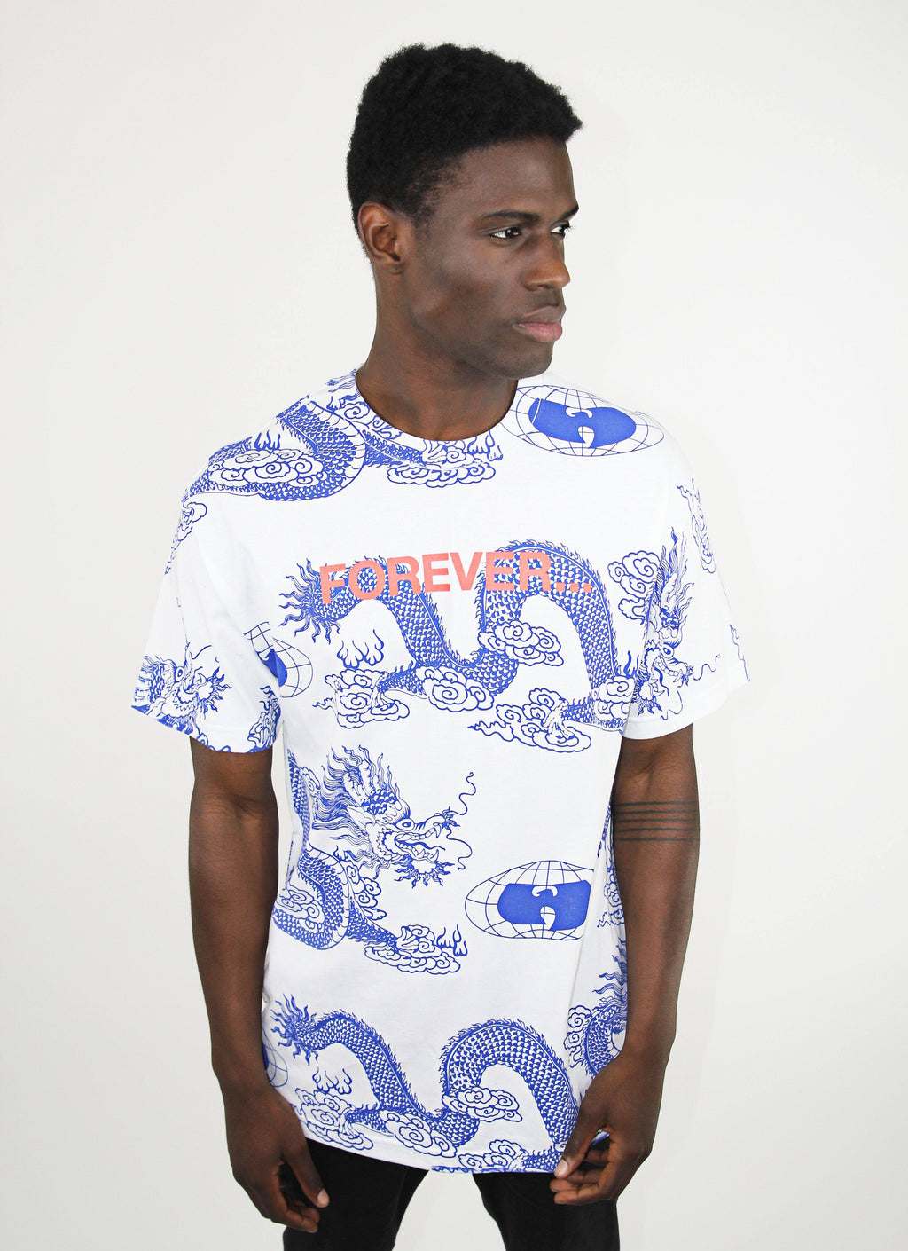 FOREVER DRAGON PRINT TEE -  WHITE - Wu Wear