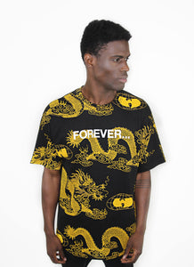 FOREVER DRAGON PRINT TEE - BLACK - Wu Wear