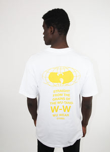 GRAINS GLOBE LOGO TEE - WHITE - Wu Wear