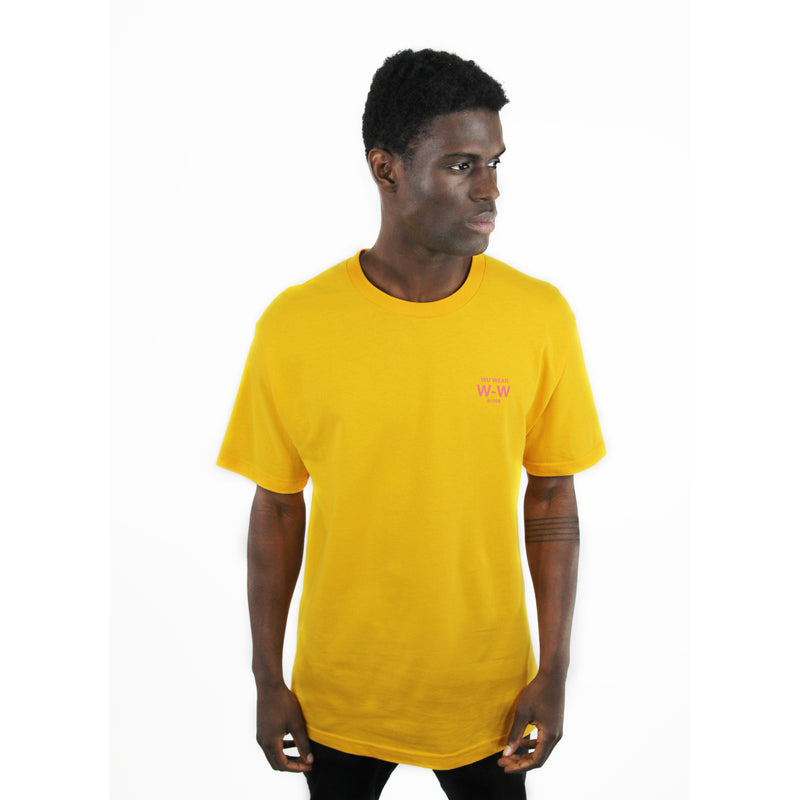 GRAINS GLOBE LOGO TEE - YELLOW - Wu Wear