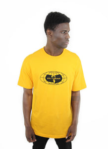 GLOBE LOGO TEE - YELLOW - Wu Wear