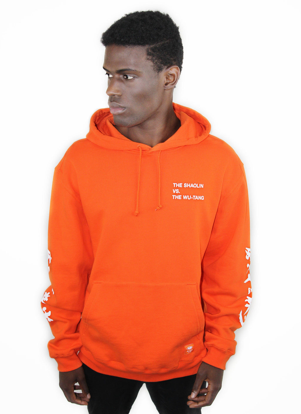 SHAOLIN VS. WU-TANG HOODIE - ORANGE - Wu Wear