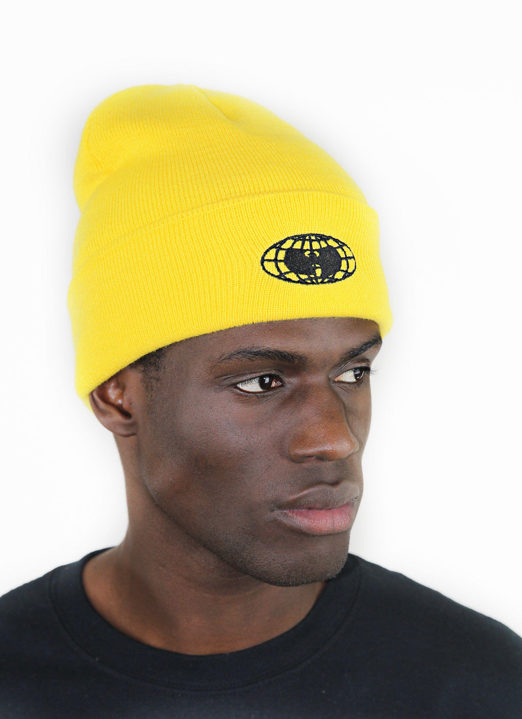 GLOBE LOGO BEANIE - YELLOW - Wu Wear