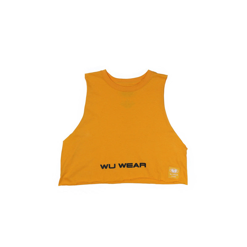 WU WEAR CROPPED TANK - GOLD - Wu Wear
