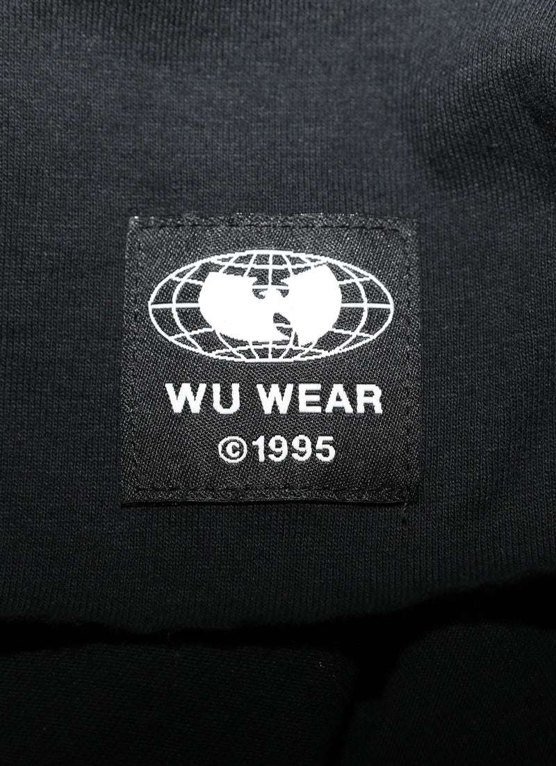 GRAINS CROPPED SHORT SLEEVE TEE - BLACK - Wu Wear