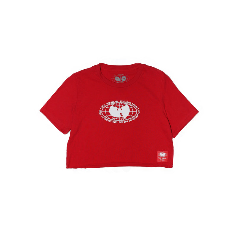 GRAINS CROPPED SHORT SLEEVE TEE - RED - Wu Wear