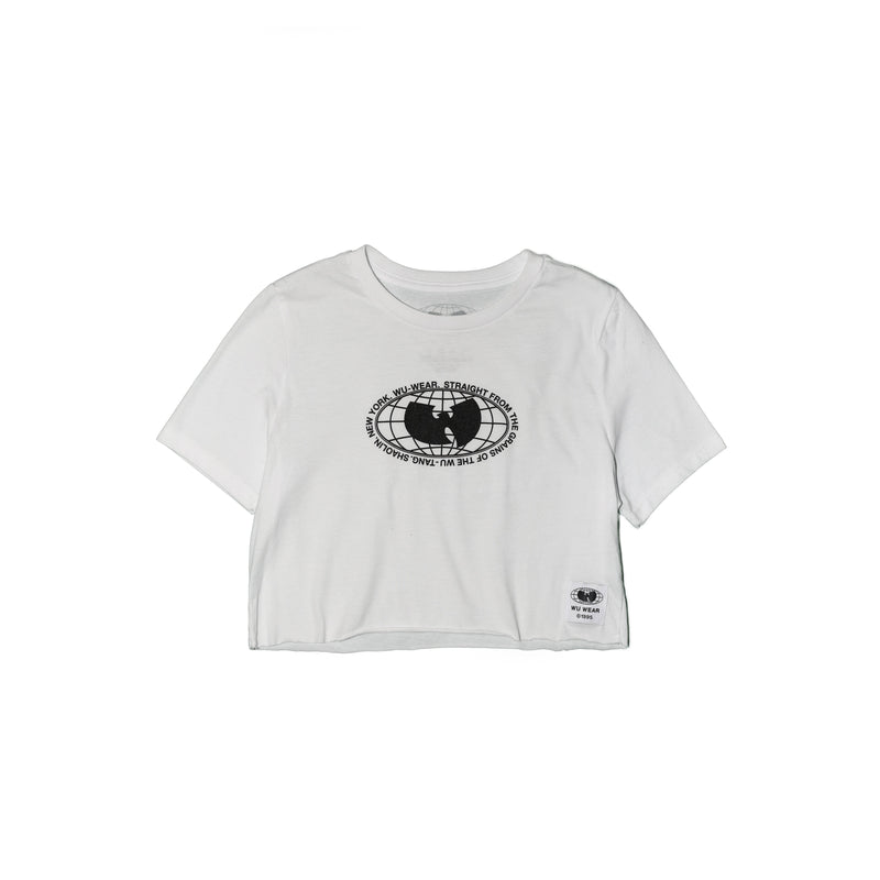 GRAINS CROPPED SHORT SLEEVE TEE - WHITE - Wu Wear