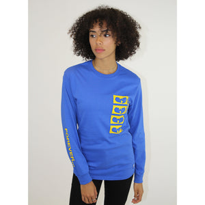 FOREVER LOGO LONG SLEEVE SHIRT - BLUE