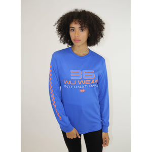 36 INTERNATIONAL LONG SLEEVE SHIRT - BLUE