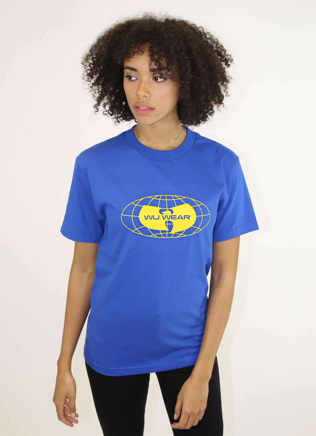 GLOBE LOGO TEE - BLUE - Wu Wear