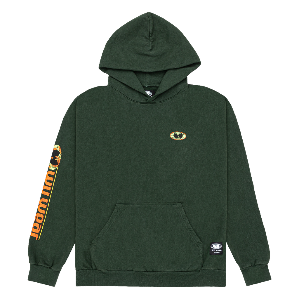 Globe Pullover Hoodie - Forest Green