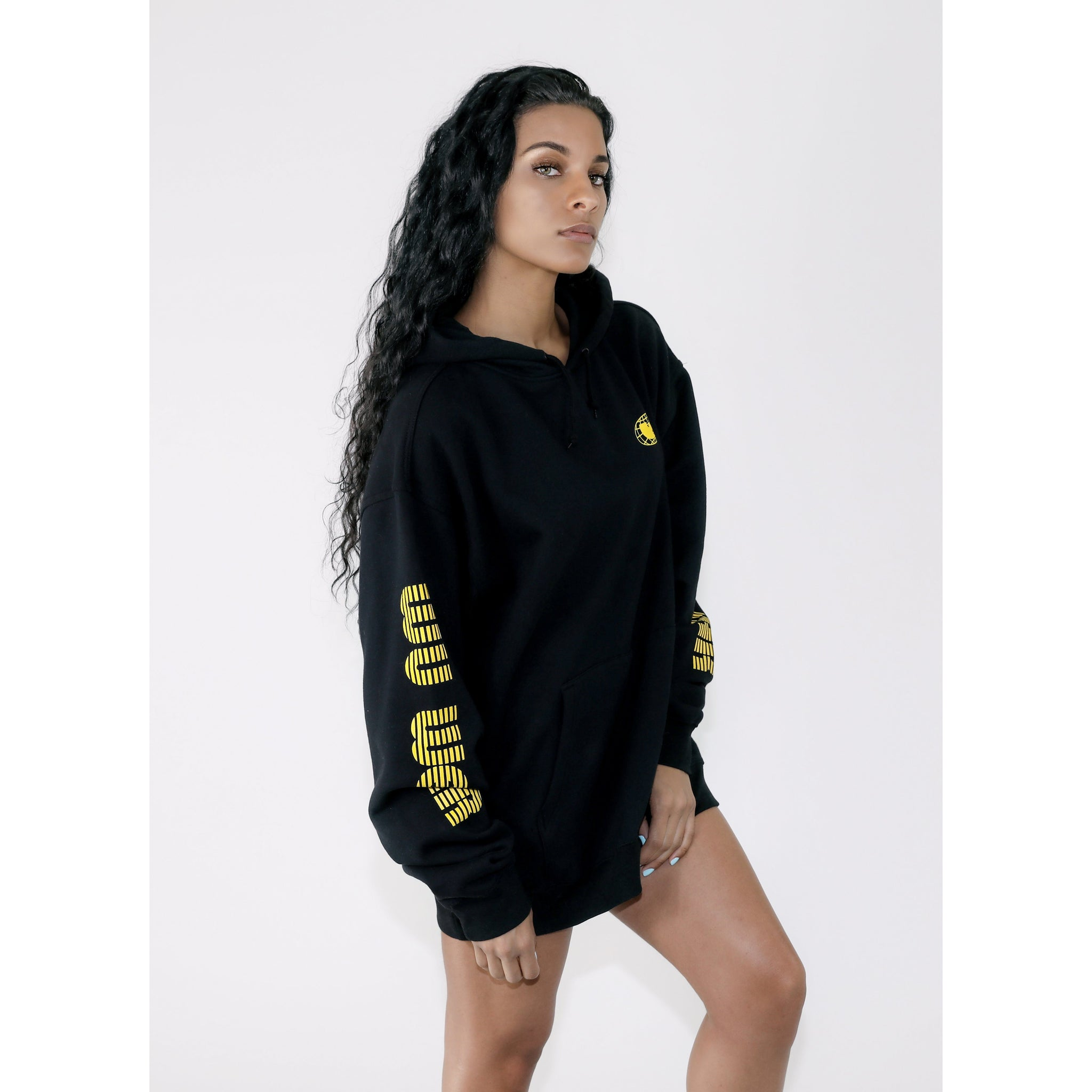 MGM HOODED DRESS - BLACK - Wu Wear