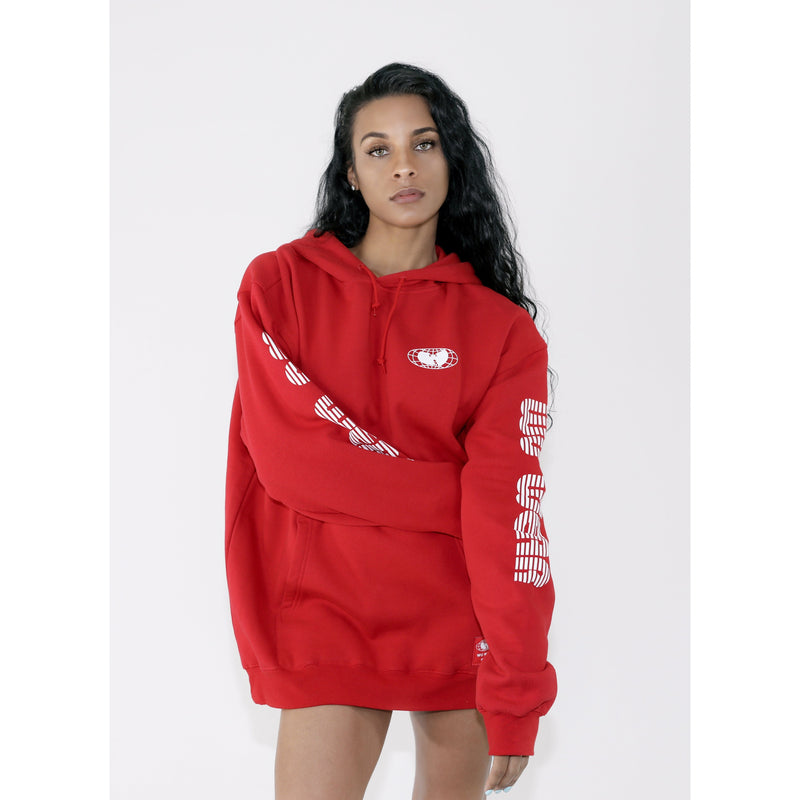 MGM HOODED DRESS - RED - Wu Wear