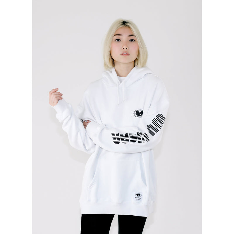 MGM HOODED DRESS - WHITE - Wu Wear